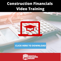 Construction Financials  Video Training-1